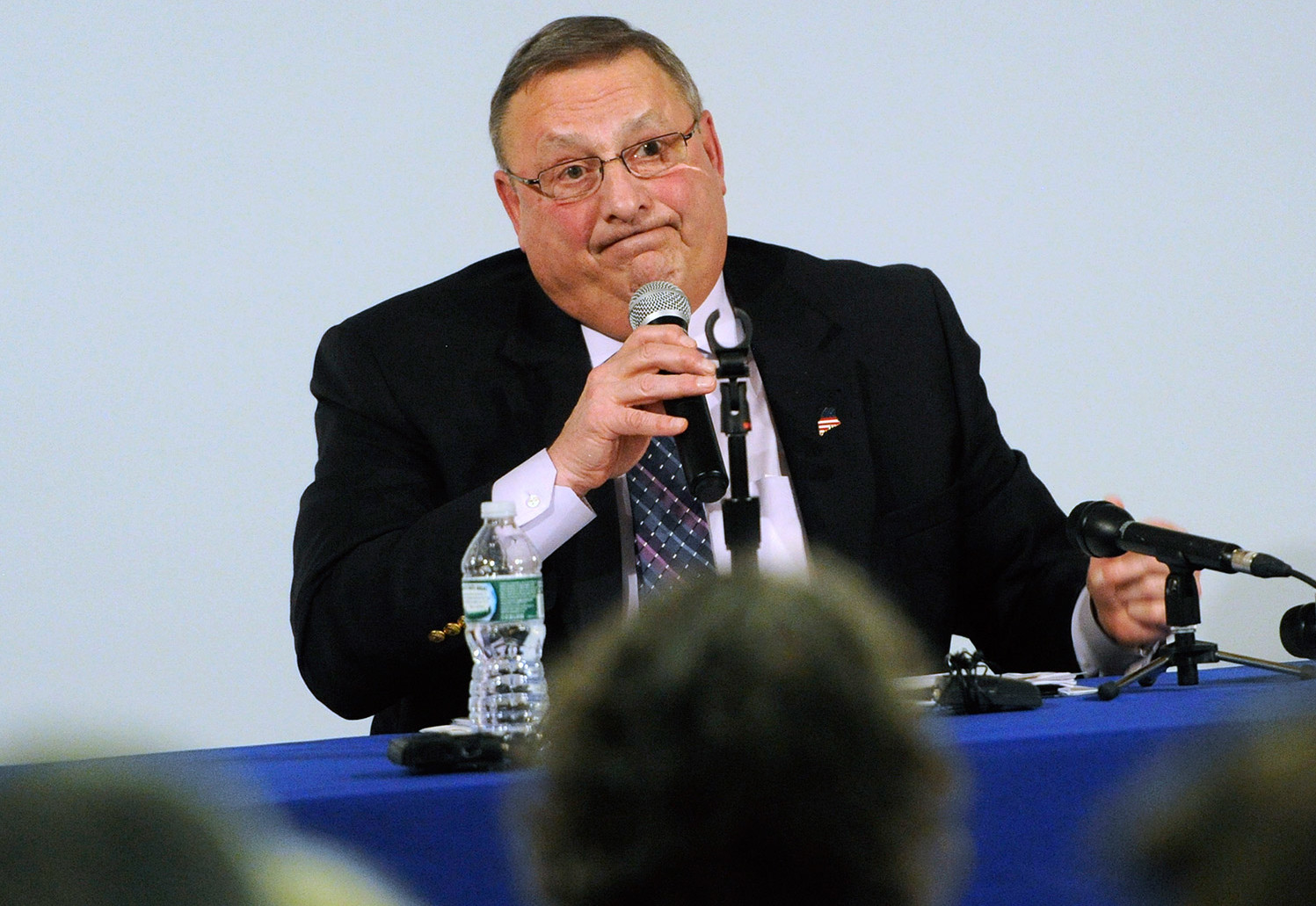 Gov. Paul LePage told Rep. Sara Gideon that her superiors in the Legislature should work with him.
