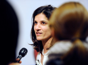 Rep. Sara Gideon, D-Freeport, told the media after the meeting that she was proud of the people who came to Tuesday night's meeting and opposed the governor's positions.