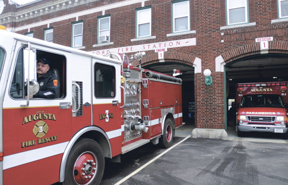 A new firetruck set to arrive in Augusta in December won't fit in any of the existing fire stations, including the Hartford Station, shown here in this 2014 file photo.