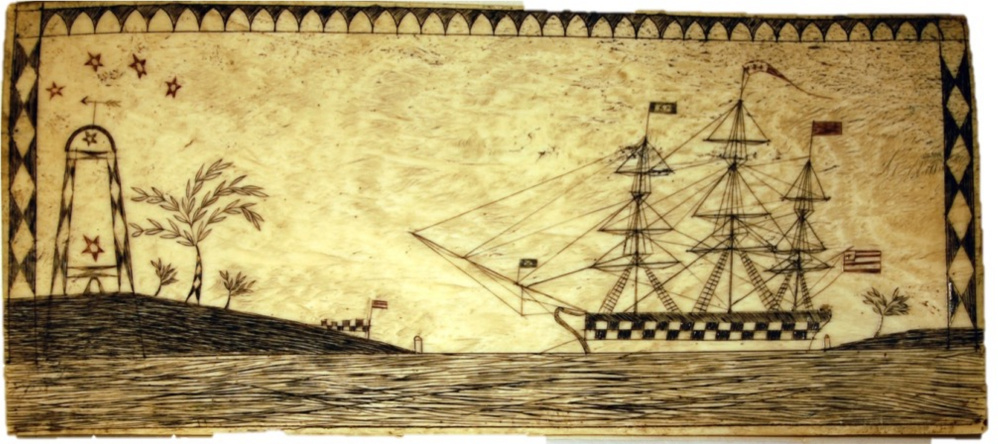 Historian Lincoln Paine will look at objects such as this primitive scrimshaw from the perspective of a maritime historian.