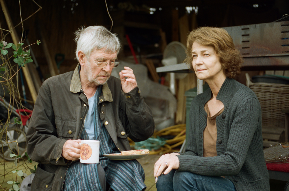 """Courtesy photo   Tom Courtenay, left, and Charlotte Rampling in """"45 Years""""."""
