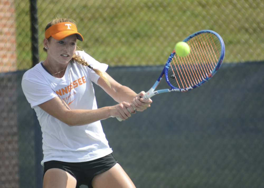 Sadie Hammond, of Belgrade, is one of several freshmen on the University of Tennessee tennis team who hope to make a big impact on the courts this season.