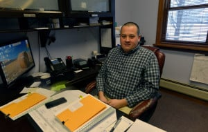 Norridgewock town manager Richard LaBelle poses for a portrait in his office on Friday. He took office last Monday, replacing Michelle Flewelling, who is now Fairfield's town manager.