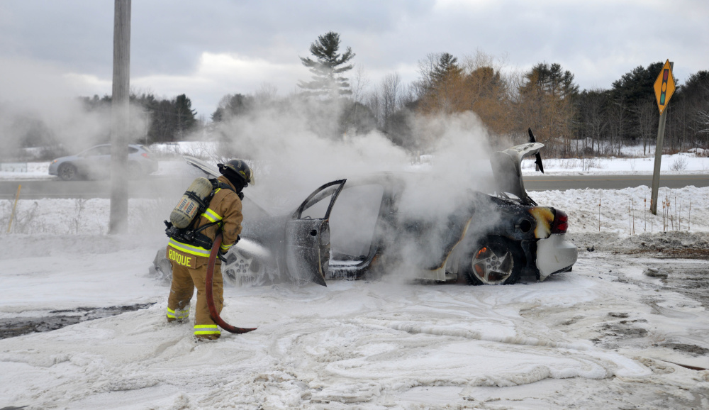 GALLERY: China car fire - Kennebec Journal and Morning ...