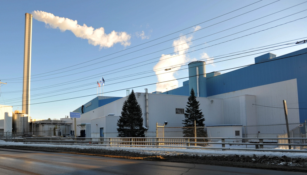 Madison Paper Industries, seen in this 2015 photo, has cutback production amid a drop in demand for supercalendered paper — the type made at Madison Paper.
