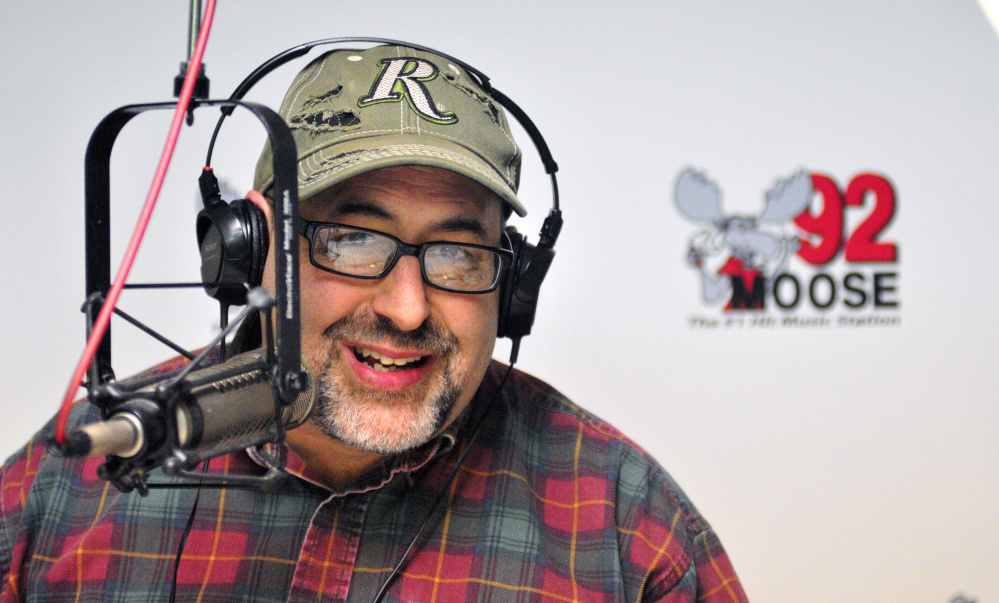 Jon James does the morning show on Wednesday at 92 Moose in Augusta, where he will work his final shift on Friday.