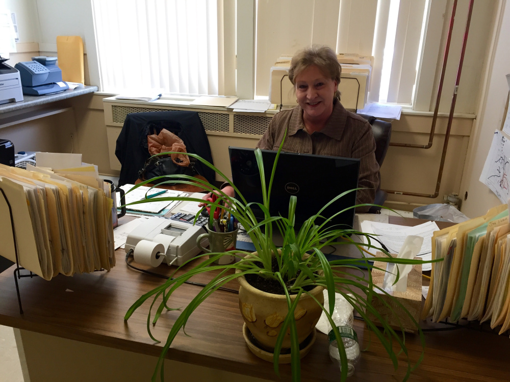 Phillips Town Manager Elaine Hubbard, who is retiring effective March 4, said she was drawn to the job by the sense of community and plans to stay in town after she retires.