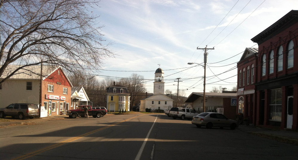 Main Street in Phillips, as seen in 2014. Elaine Hubbard, who is retiring next month after six years as town manager, said the sense of community the town has is what made her job so enjoyable.