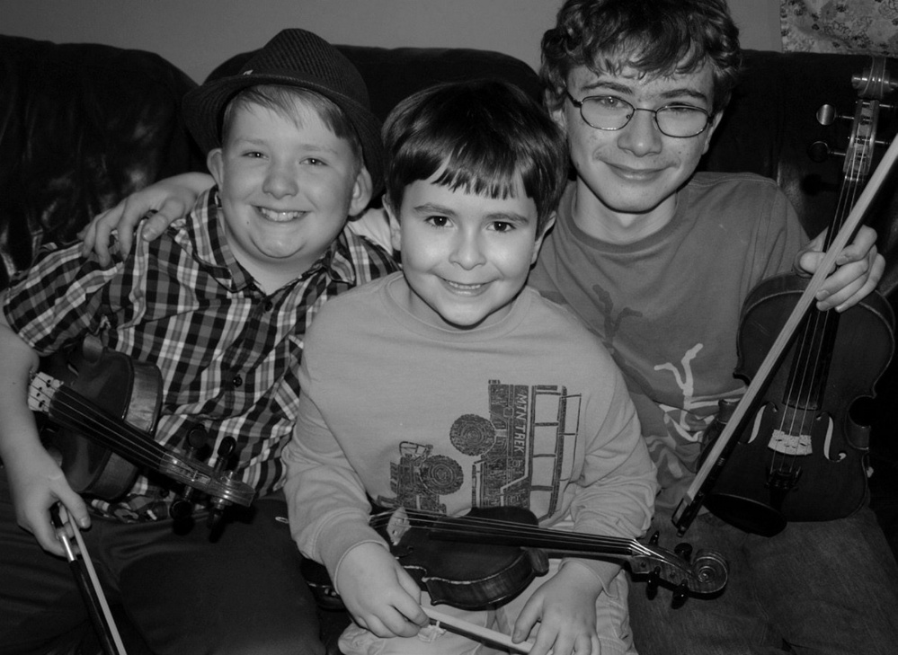 Owen Kennedy, left, of Winthrop, and Joshua and Benjamin Rosenthal, of Damariscotta.
