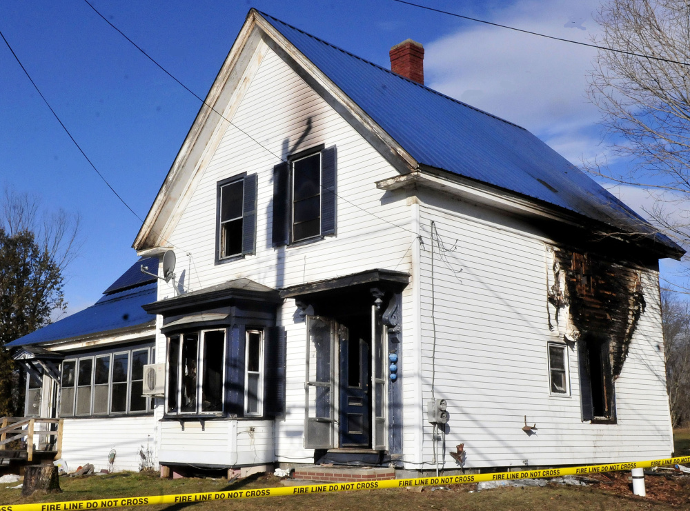 A house on Gordon Hill Road in Thorndike was destroyed by fire early Sunday morning, but no one in the family of three who lived there was injured.