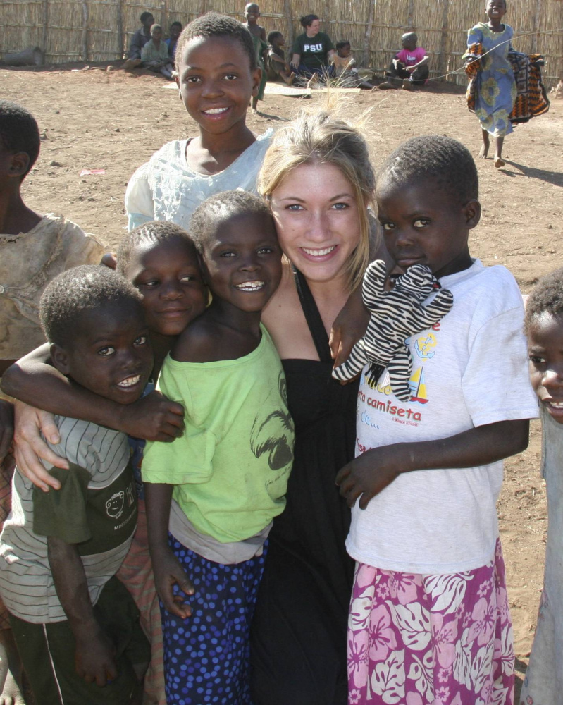 Annie Hart, of Lincolnville, experiencing Malawian culture.