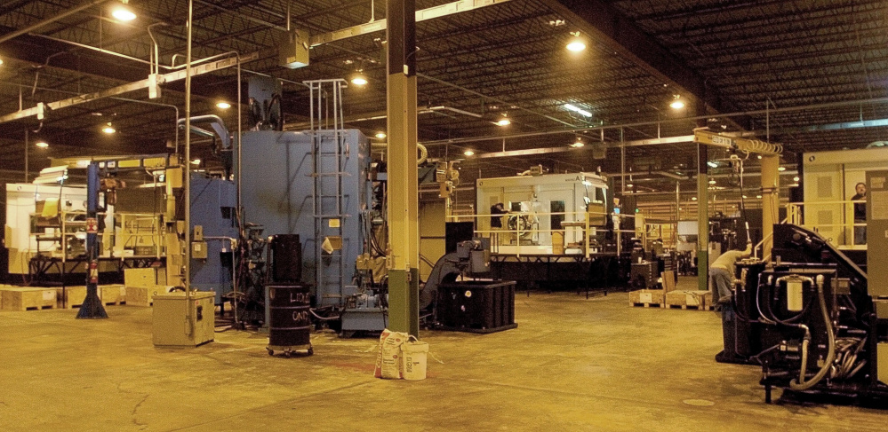 The Mid-State Machine Products West in Waterville, seen here in 2007 when it moved into the Wyandotte Mill on West River Road, is moving its machines out of the building and the City Council will consider dissolving a tax increment financing agreement for the machines.