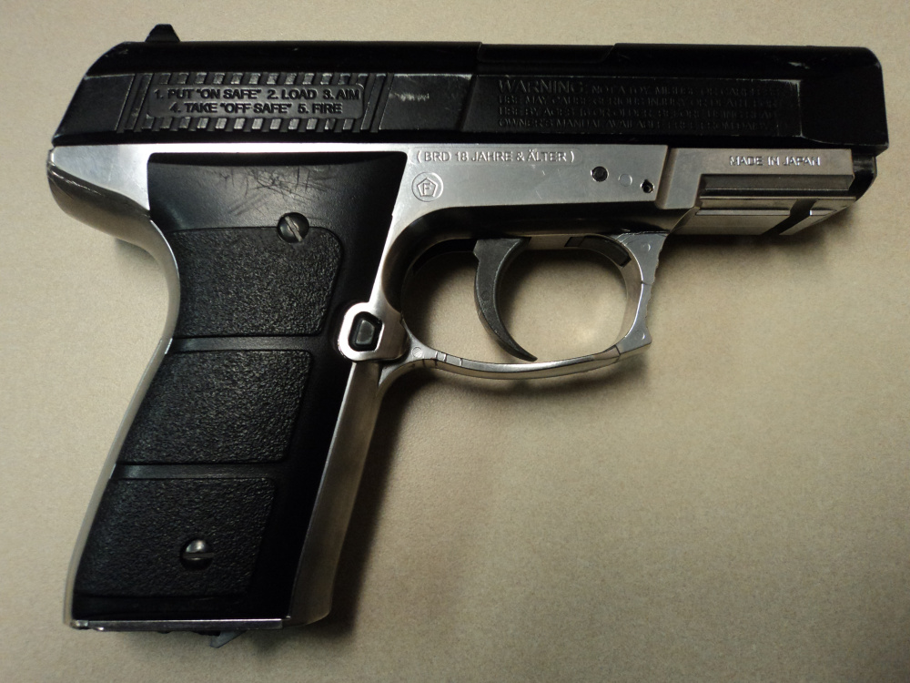 A Waterville teenager allegedly waved this BB gun while sitting in a car, scaring the driving of another car on Kennedy Memorial Drive Friday afternoon, police said.