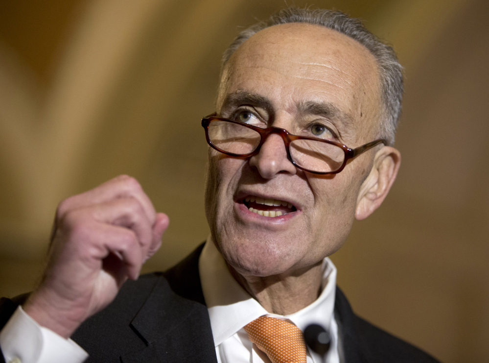"Sen. Charles Schumer, D-N.Y., wants to require the Federal Aviation Administration to institute minimum seat-size rules for airlines, which he says now force passengers to sit on planes ""like sardines."""