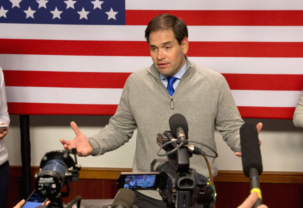 Marco Rubio is under fire from Jeb Bush and Chris Christie.