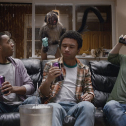 "Offbeat humor reigned with a creature called ""Puppymonkeybaby"" – pretty much exactly what it sounds like – in an ad for Mountain Dew's Kickstart."