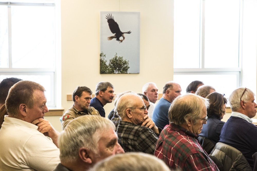 At a packed legislative hearing Wednesday before the Marine Resources Committee in Augusta, opponents of proposed changes to how lobstering licenses are issued in Maine outnumbered supporters by a more than 2-to-1 margin.