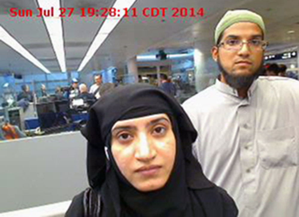 Tashfeen Malik, left, and Syed Farook carried out the deadly terrorist attacks in San Bernardino, Calif.  An iPhone belonging to one of them has proven impervious to FBI efforts get information.