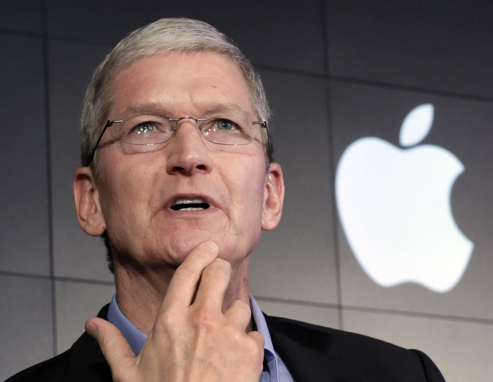 "Apple CEO Tim Cook said his company is fighting a federal court ruling requiring Apple to provide the FBI with a ""master key"" to an encrypted smartphone used by a terrorist in the San Bernardino massacre late last year."