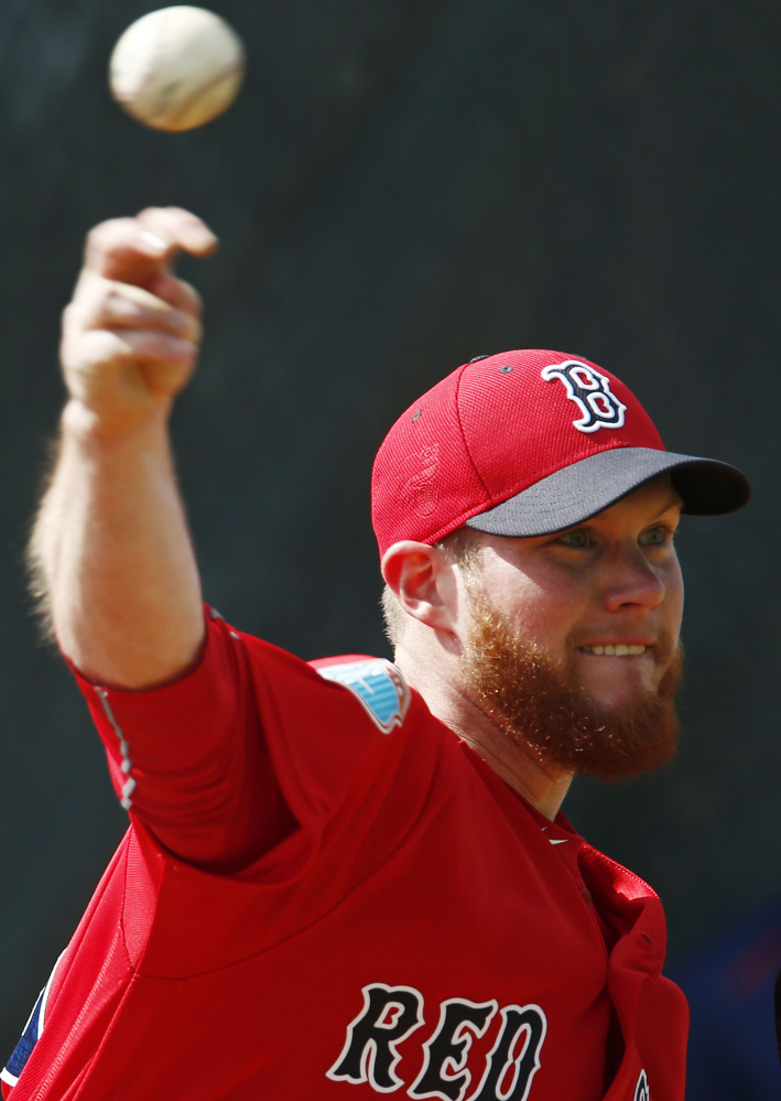 Craig Kimbrel, Boston's new closer, says his high-90s fastball will present a tough contrast to setup man Koji Uehara's off-speed repertoire.