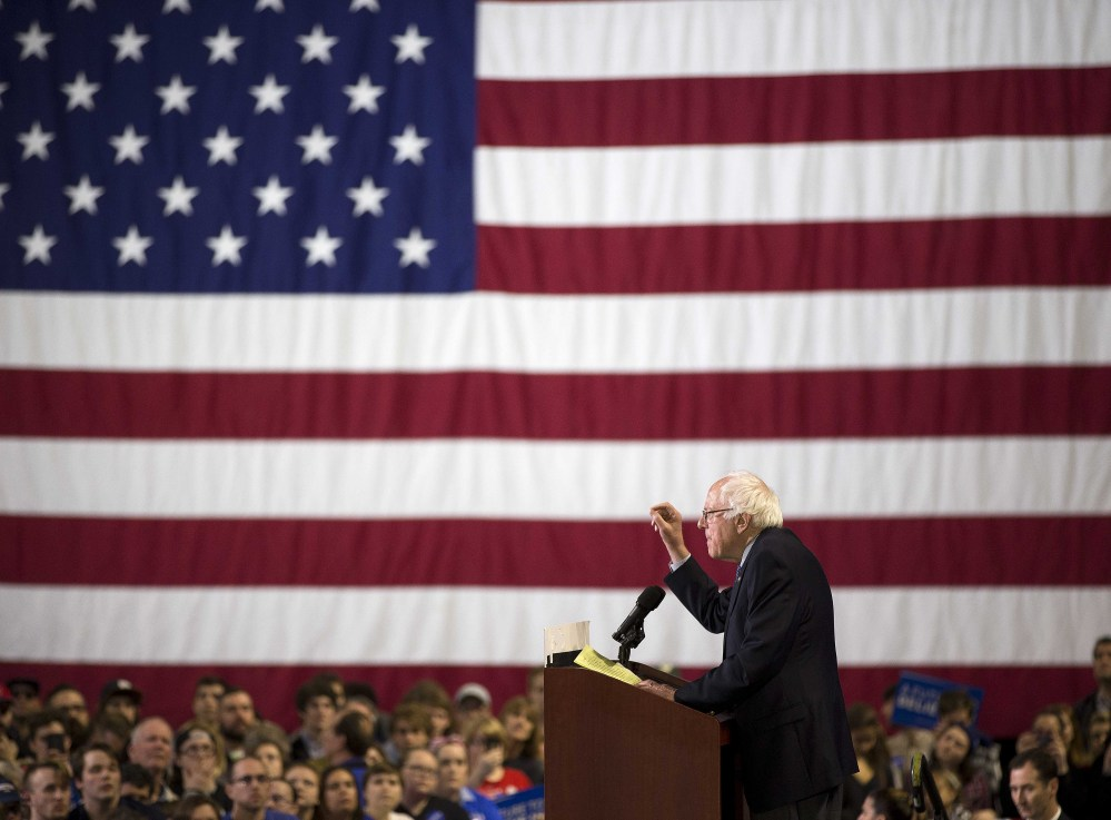 Democratic presidential candidate Sen. Bernie Sanders, I-Vt., speaks during a rally Sunday in Greenville, S.C. He has inspired some new voters, but turnout was down in the early primary states.