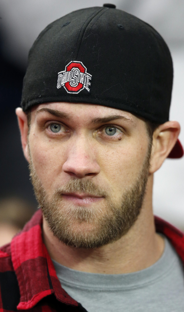Bryce Harper is focused on doing whatever he can to help the Nationals win this season, and will take a back seat to veterans when it comes to being a team leader.