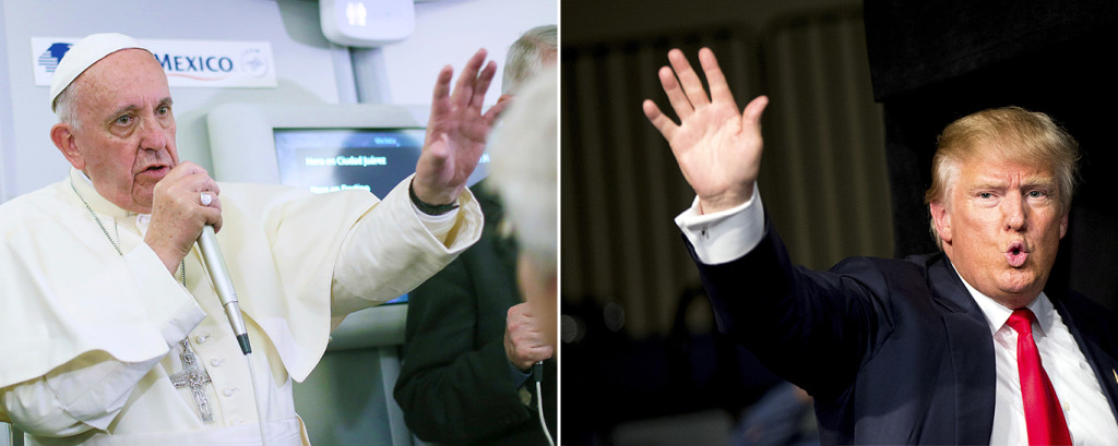 Donald Trump, a Presbyterian, last week criticized Pope Francis' plans to pray at the border. He said the move was ill-informed and showed Francis to be a political figure being exploited by the Mexican government. The Associated Press