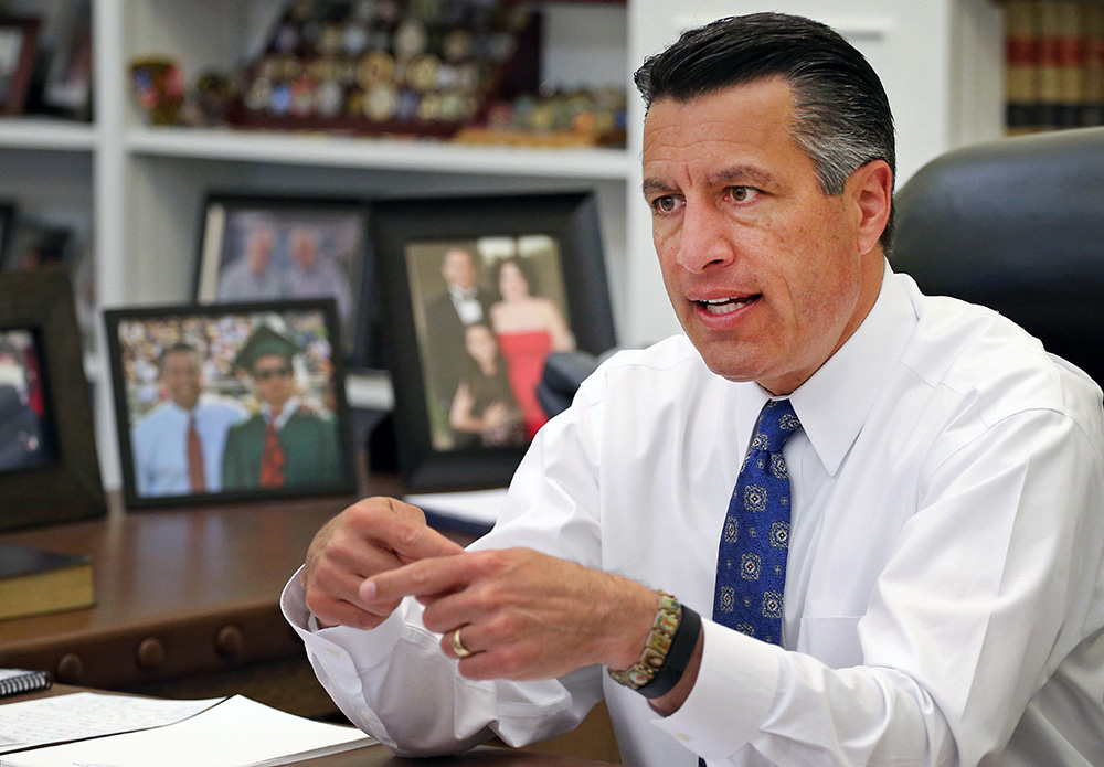 "Nevada Gov. Brian Sandoval: ""The notion of being considered for a seat on the highest court in the land is beyond humbling,"" The Associated Press"