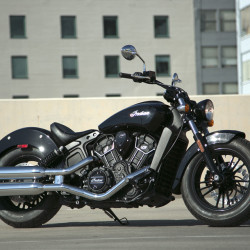 Indian Motorcycle has added a smaller version of its popular Scout -- the Scout Sixty, taking direct aim at Harley-Davidson's new Street-series motorcycles and trying to lure newer riders to the sport. It's powered by a 61 cubic inch V-twin that makes 78 horsepower. (Myung J. Chun/Los Angeles Times/TNS)