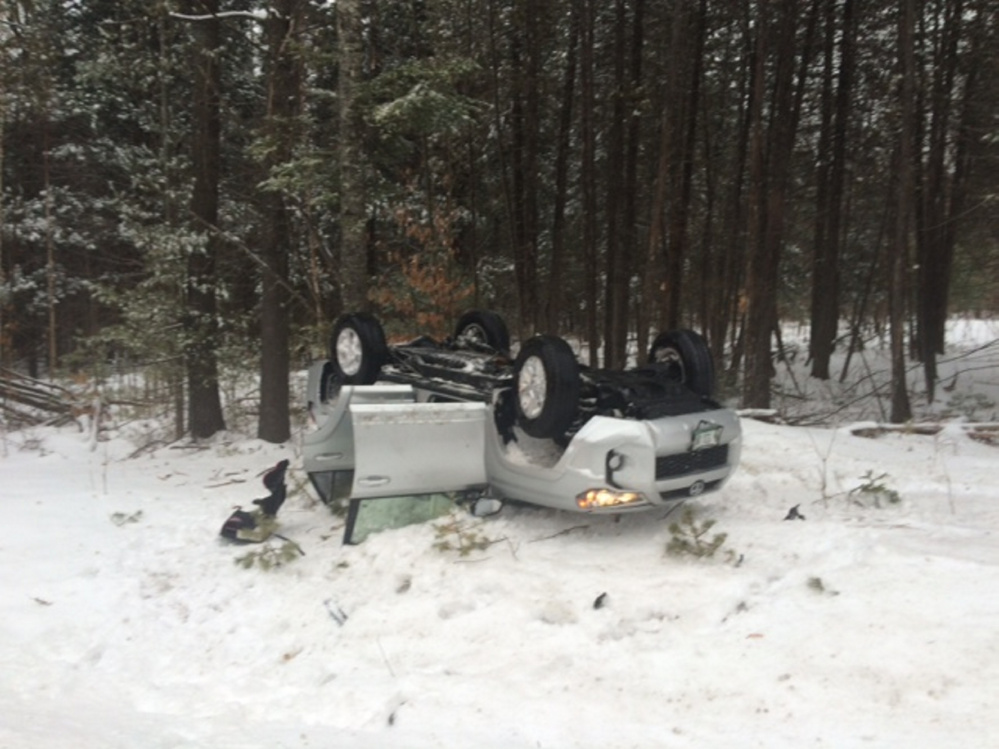 No one was seriously hurt when a Toyota 4-Runner rolled over on Lakewood Road in Madison and struck a tree. Besides the driver, a 3-year-old and a dog were in the car.