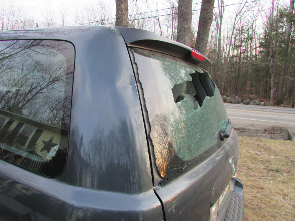 An example of the damage caused over the weekend by teenage vandals, according to police.