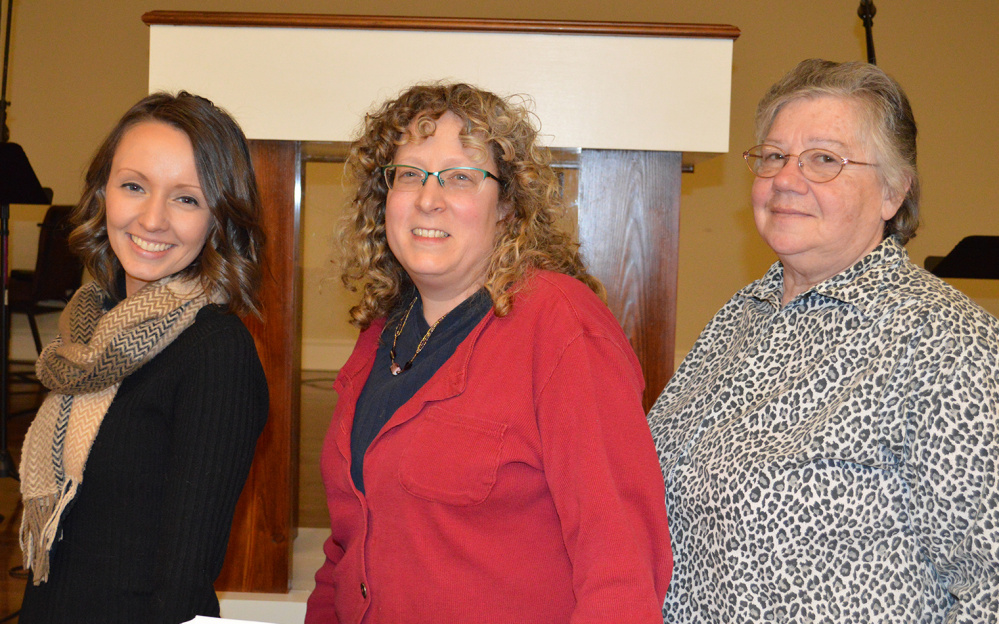 Spearheading the Women's Ministry at the Western Mountains Baptist Church, from left, are Nicole Dereszynski, Shelly Zoebisch and Pat Sanders, all from Kingfield.