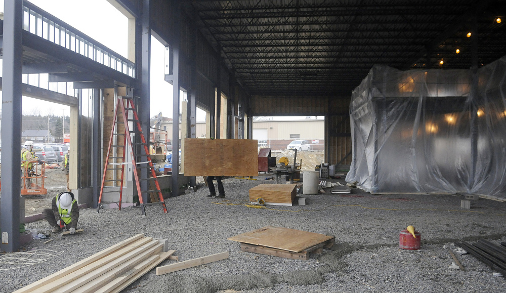 The new building at the corner of Old Winthrop Road and Western Avenue in Augusta, being built for Darling's Auto Group, will offer more service bays and other amenities for customers.
