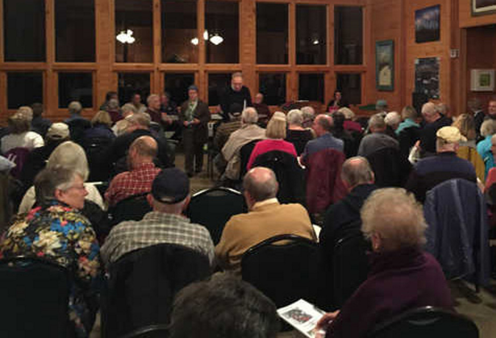 Carrabassett Valley residents gathered at the Sugarloaf Outdoor Center Wednesday night for their annual Town Meeting.