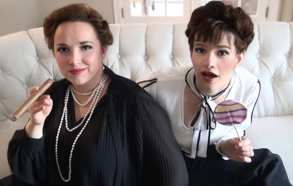 """Abbie Standsm of Allentown, Pennsylvania, left, and Kristyn Murphy, of Pittsfield, will kick off their 2016 tour of """"Lovers & Monsters"""" 1t 4 p.m. April 9 at Metropolitan Room in New York City. Preview shows are set for March 18 at the Next Generation Theatre in Brewer and March 19 and 20 at Studio 93 in Waterville."""