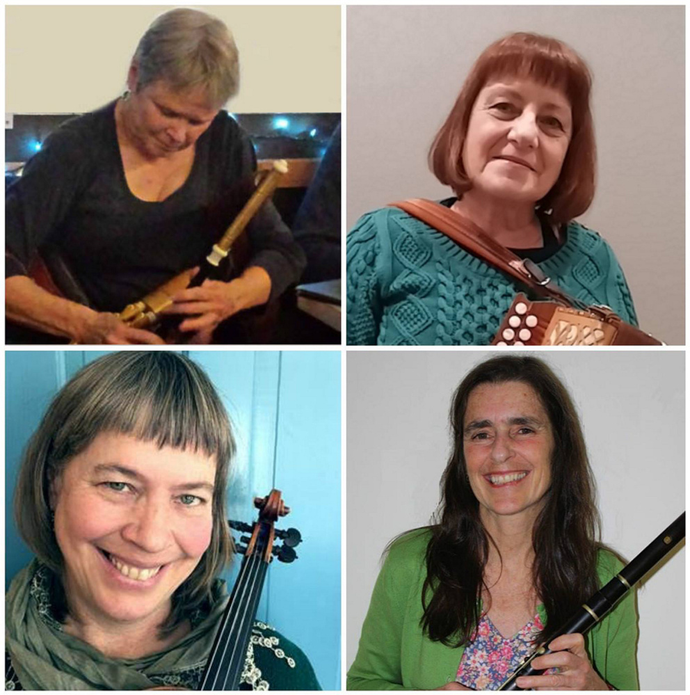 The Ladies of the Lake, clockwise, from the top left, are Susanne Ward, Maggie Ericson, Sharon Pyne and Ellen Gawler.