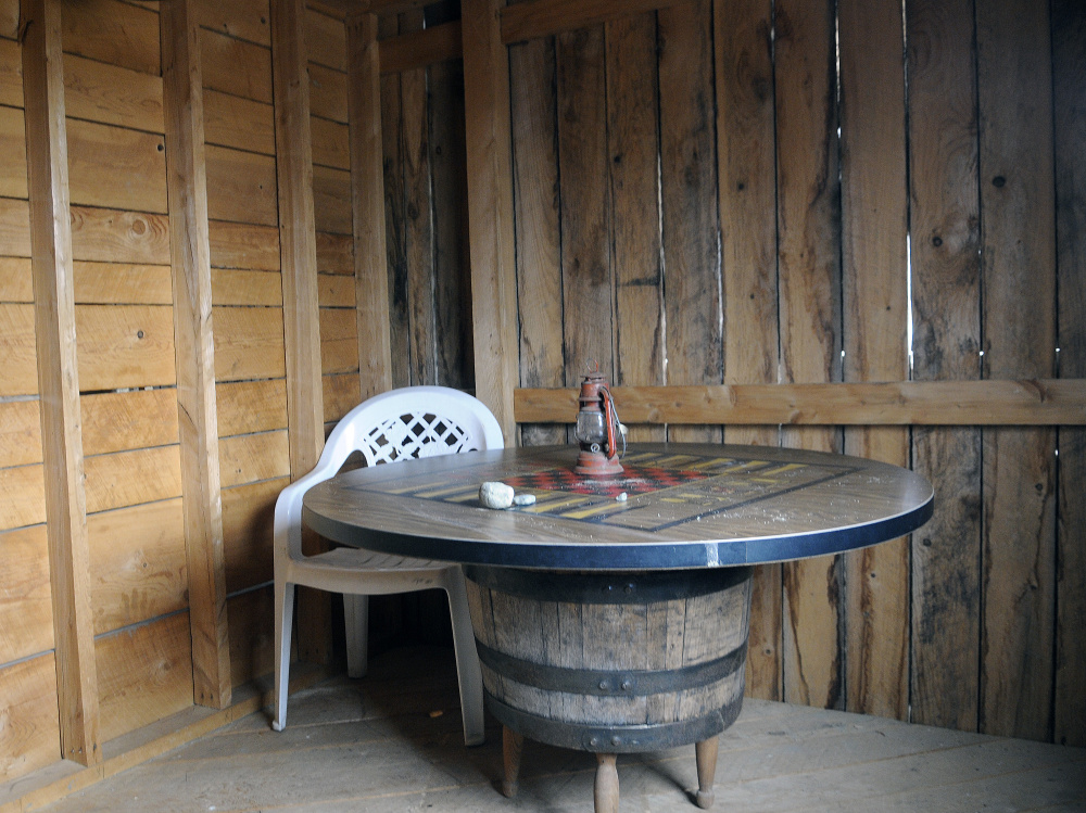A Checkers Board Rests On Barrel Last Week The Second Floor Of Saloon At Wild West Village Williams Estate In Monmouth