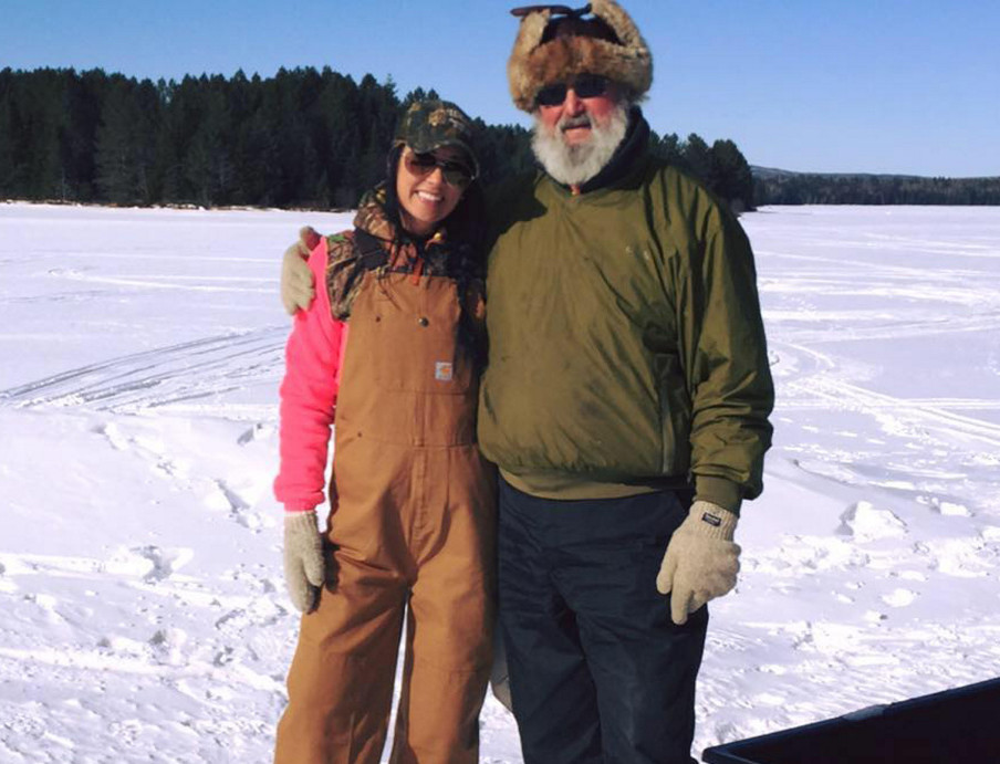 Kimberly Hill's Facebook profile photo was taken during a day of ice fishing and posted in February. The Hill family own a camp in West Forks. Hill died when she somehow left the cab of her boyfriend's moving truck early Sunday morning on U.S. Route 201.