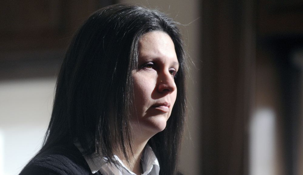 BethMarie Retamozzo, seen during her court sentencing sentenced Feb. 20, 2015, has lost an appeal with the Maine Supreme Judicial Court to overturn her conviction for illegally taking two of her children from their guardian in Maine.