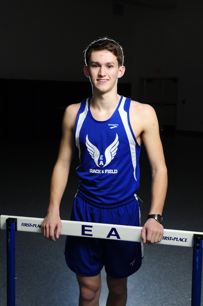 Erskine Academy's Ethan Dodge is the Kennebec Journal Indoor Track and Field Boys Athlete of the Year.