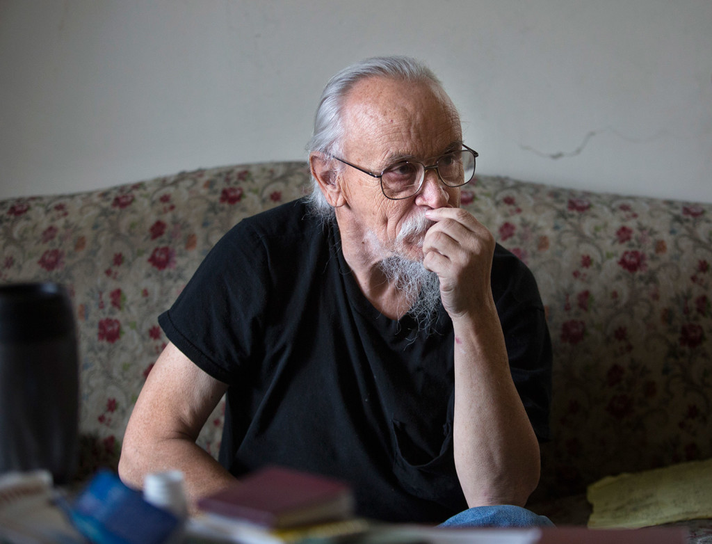"Don Hinds of Brunswick says he has post-traumatic stress disorder and severe depression, and he needs help to function. He said, ""I am really ticked off and frustrated"" about about potential cutbacks to agencies' MaineCare reimbursements. ""They're going to take away something that means everything to me."""