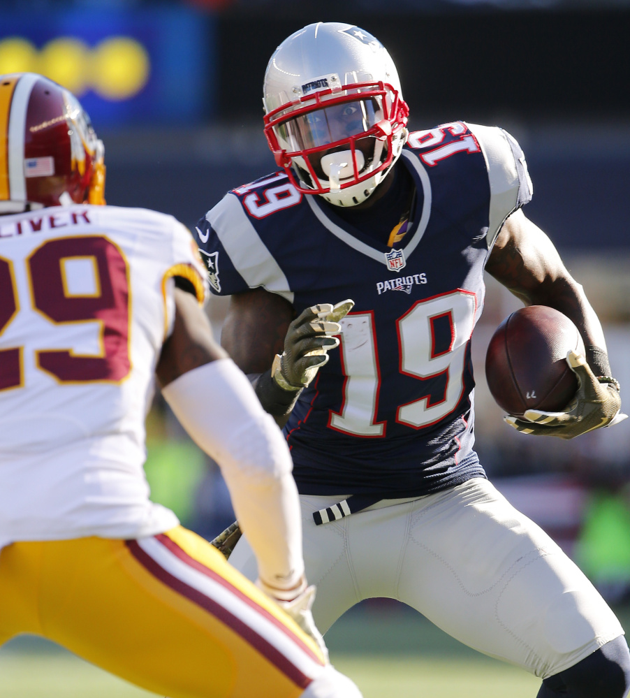 Wide receiver Brandon LaFell, an effective threat for New England in 2014 who was hampered by a foot injury last season, was cut Wednesday with tight end Scott Chandler. The cuts save the Patriots more than $5 million in cap space.