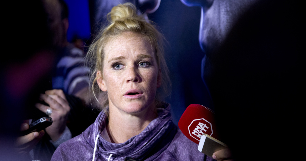 Holly Holm says she's passionate about fighting, and is putting her 10-0 record on the line Saturday in Las Vegas when she enters the cage against Miesha Tate.