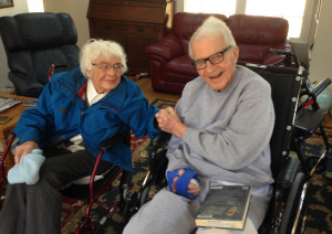 Sandy Hendrickson, 85, and Tom Hendrickson, 88, are the parents of Portland resident Heidi Farber. The couple lives in Indianapolis, and over the past year they have relied heavily on Heidi and her siblings to help them cope with serious health problems. Sandy has debilitating osteoporosis, and Tom suffered a stroke in 2015. (Photo courtesy of Heidi Farber)