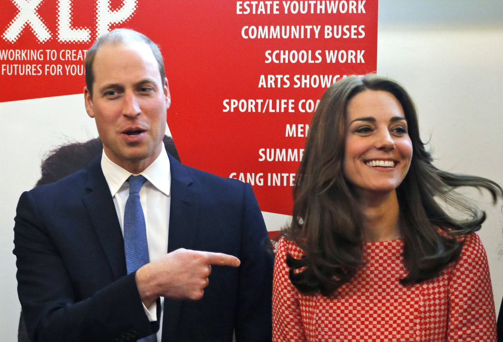Prince William and wife Kate, Duchess of Cambridge, enjoy visiting a London mentoring program London this month.
