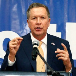 John Kasich speaks Tuesday at a Central Mississippi Republican Party fundraising dinner in Jackson, Miss.