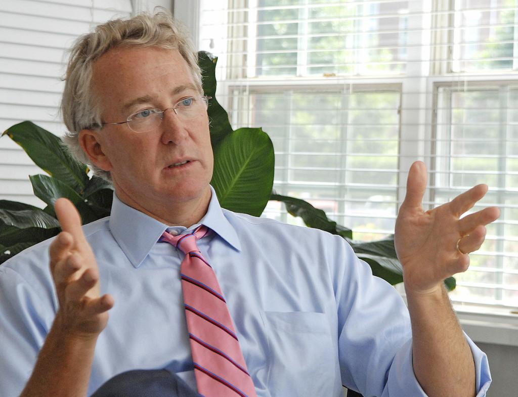 Chesapeake Energy CEO Aubrey McClendon speaks during an interview in Oklahoma City in this Aug. 2, 2007, photo. A part-owner of the NBA's Oklahoma City Thunder, McClendon stepped down in 2013 at Chesapeake and founded American Energy Partners, where he was chairman and CEO. Jennifer Pitts/Journal Record via AP