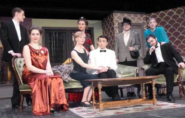 "The cast of ""The Game's Afoot,"" Waterville Senior High School's entry in the 2016 Maine Drama Festival. Waterville, Lawrence High School, Winslow High School and Maine Central Institute have advanced, along with 16 other high schools, have won regional competitions over the weekend and will compete in the state finals March 18 and 19."