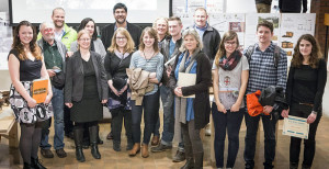UMA architecture students, faculty and 2015-16 award winners.