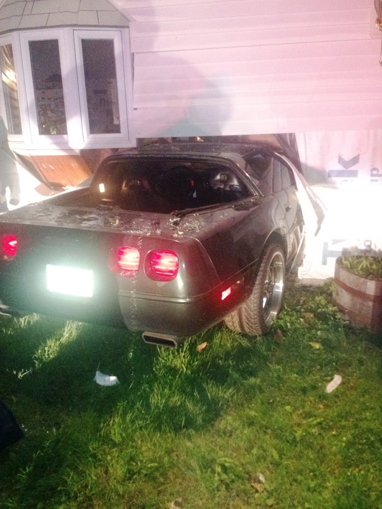 A Corvette driven by Edwin Munson, 67, of Winthrop, plowed into the front of his then-girlfriend's house on June 3, 2015, on Annabessacook Road in Winthrop.